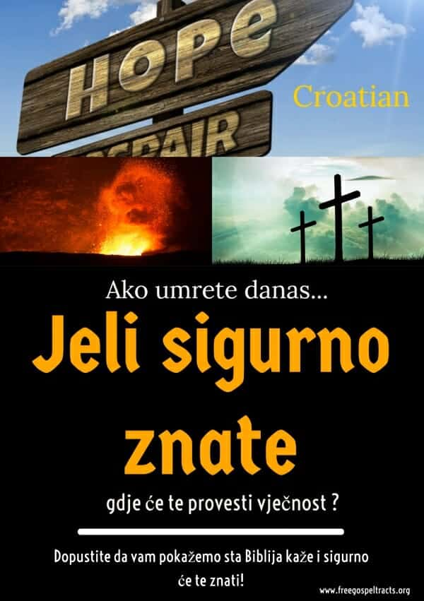 Free Gospel Tracts (Croatian)