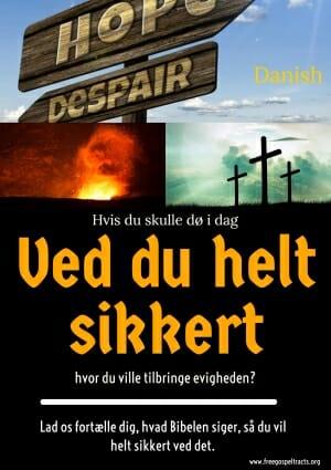 Free Gospel Tracts. (Danish)