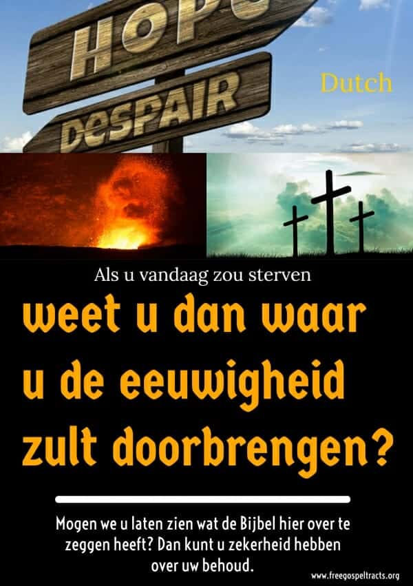 Free Gospel Tracts. (Dutch)