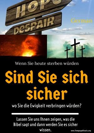 Free Gospel Tracts. (German)