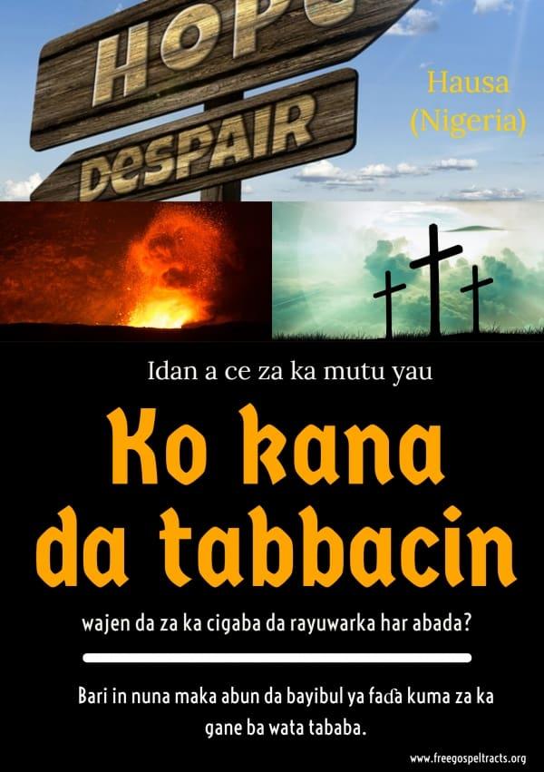 Free Gospel Tracts. (Hausa)