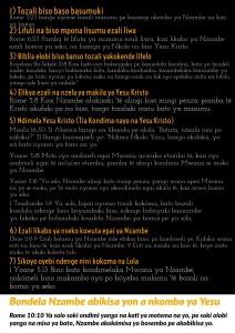 Free Gospel Tracts. (Lingala)