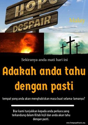 Free Gospel Tracts. (Malay)