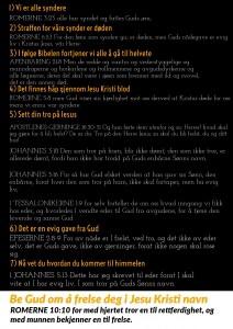 Free Gospel Tracts. (Norwegian)