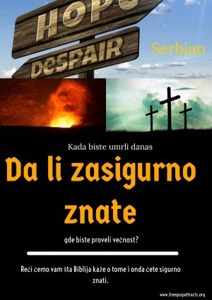 Free Gospel Tracts. (Serbian)