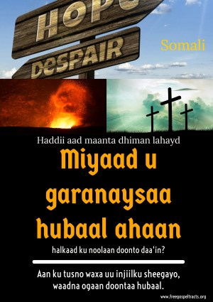 Free Gospel Tracts. (Somali)