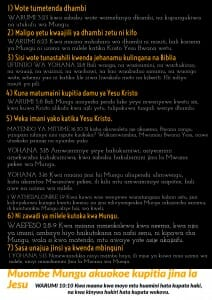 Free Gospel Tracts. (Swahili)