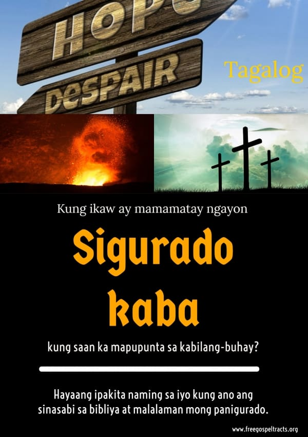 Free Gospel Tracts. (Tagalog)