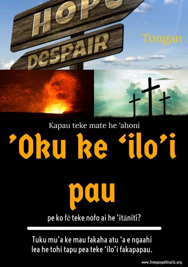 Free Gospel Tracts. (Tongan)