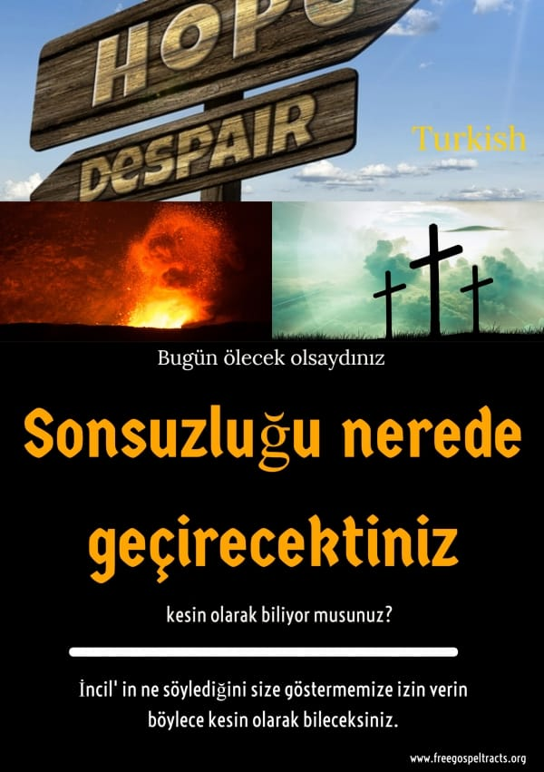 Free Gospel Tracts. (Turkish)