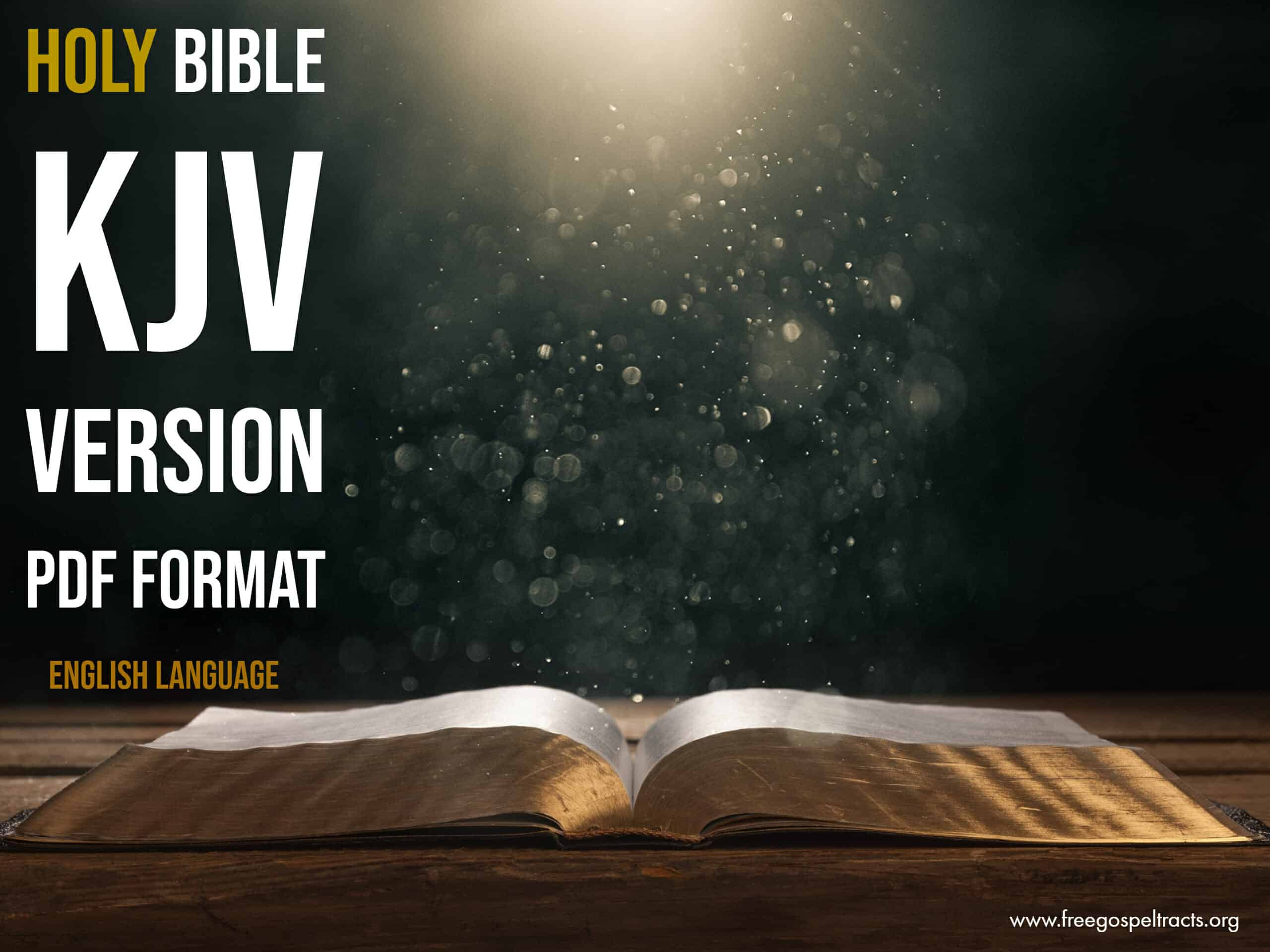 Download the bible in PDF Format. Download KJV BIBLE in PDF