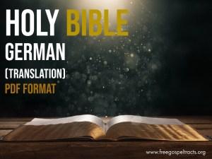 Download the bible in PDF Format. Download german BIBLE in PDF