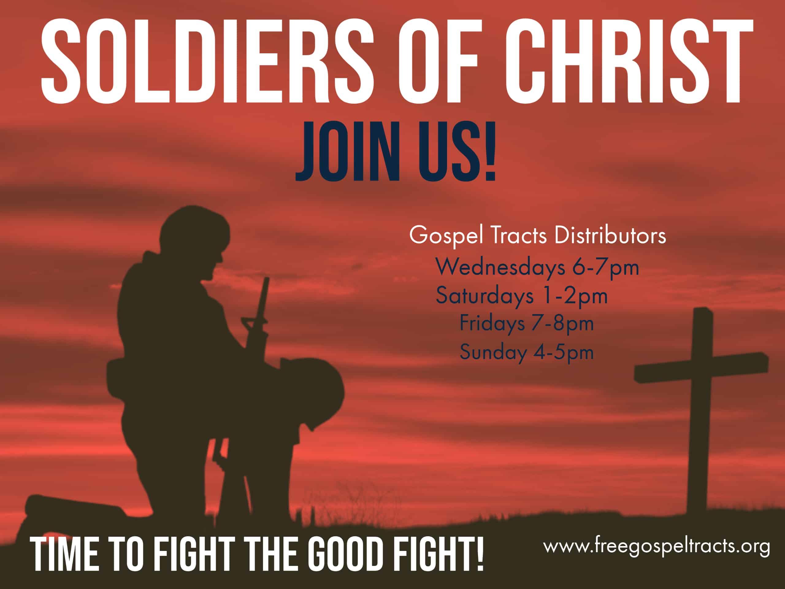 Gospel Tracts Distributors, soul winning