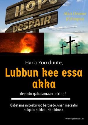 Gospel tract in Afan Oromo language.